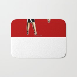 Cupid, Not TODAY! Bath Mat
