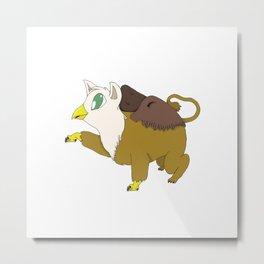 Griffin Cub Metal Print