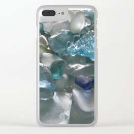 Ocean Hue Sea Glass Assortment Clear iPhone Case