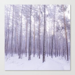 Snow in Trees Canvas Print