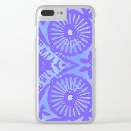 bowie: blue blue electric blue Clear iPhone Case