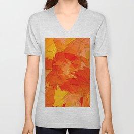 Autumn leaves - sketch Unisex V-Neck