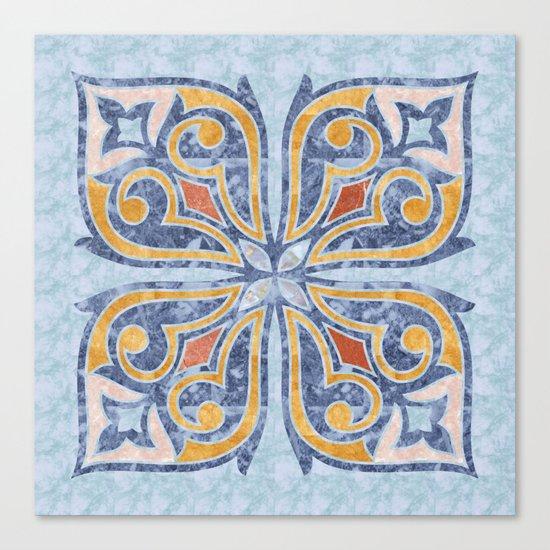Blue Oriental Tile 04 Canvas Print