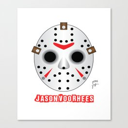 Jason Voorhees Mask Canvas Print
