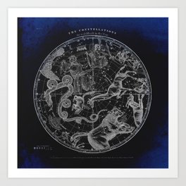 NY, Constellations Art Print