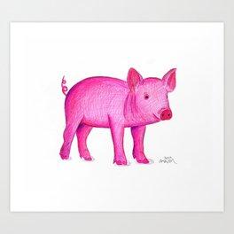 Piggie Art Print