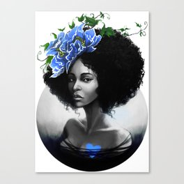 Blossom Afro Canvas Print