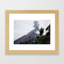 Smokey Mountains of Antigua Framed Art Print
