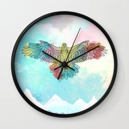 Colorful Eagle Wall Clock