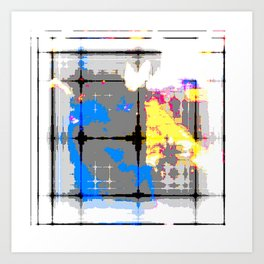 glitch abstract Art Print