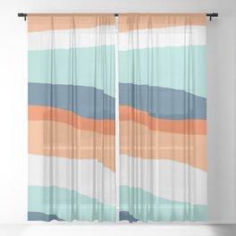 venice sunset Sheer Curtain