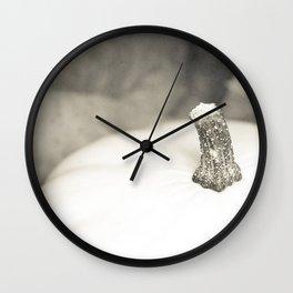 Calabaza blanca Wall Clock