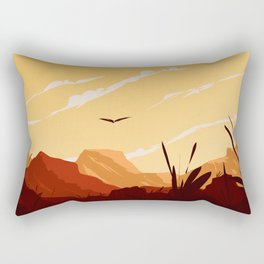 West Texas Landscape Rectangular Pillow