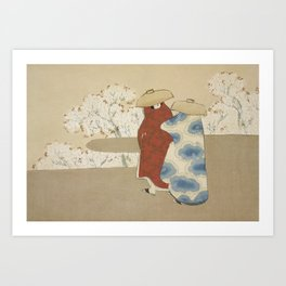 Hanami season Art Print