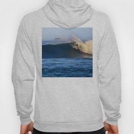 Sunrise surfing at Sunset Beach. Hoody