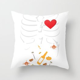 Rib Pregnancy Daddy Foods in Belly Throw Pillow