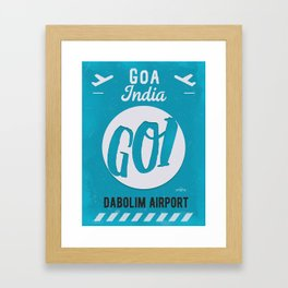 GOI GOA airport tag Framed Art Print