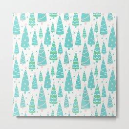Pastel Christmas Tree Forest Metal Print