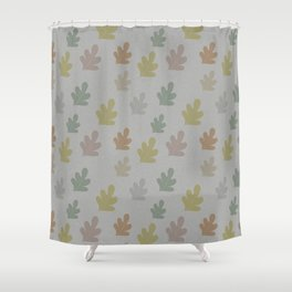 Falling leaves with silver rain Shower Curtain