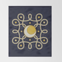 Celestial Convergence Throw Blanket