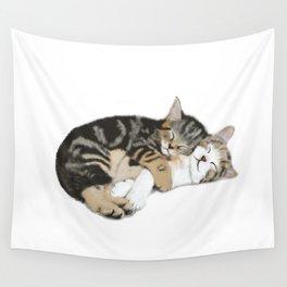 Kitten cuddles Wall Tapestry