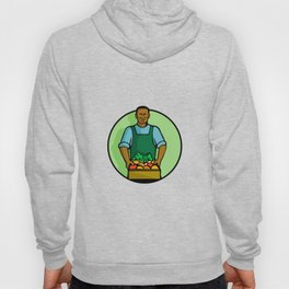 African American Green Grocer Greengrocer Mascot Hoody