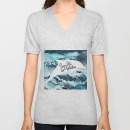 Say no to plastic. dolphin, sea, ocean Unisex V-Neck