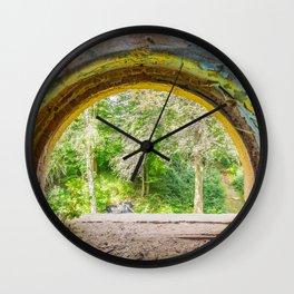 Rainbow Window Wall Clock