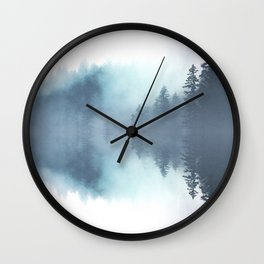 Forest Reflections Wall Clock