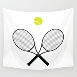Tennis Racket And Ball 2 Wall Tapestry