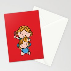 mom & daughter Stationery Cards