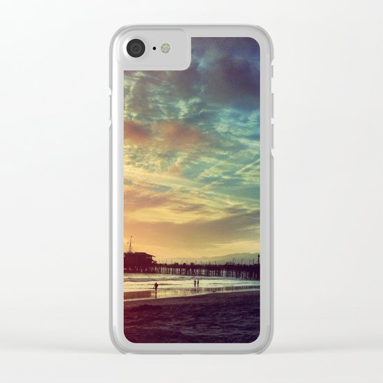 Photography + Color - Santa Monica Sunset Clear iPhone Case