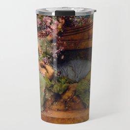 "Sir Lawrence Alma-Tadema ""In a Rose Garden"" Travel Mug"