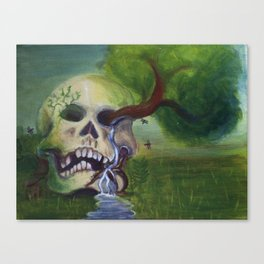 Overgrown Cranium  Canvas Print