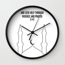 Masjid x Black Wall Clock