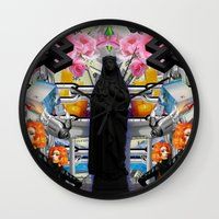 mother Wall Clocks featuring Mother? by ItzelXoco
