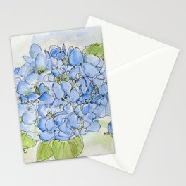 Blue Hydrangea Stationery Cards