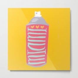 Miami spray paint Metal Print