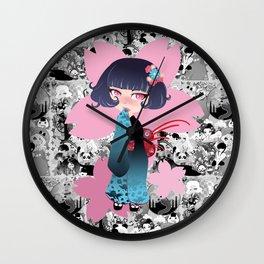 Hina pink Wall Clock