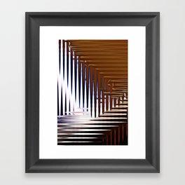 Bright Grid Framed Art Print