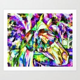 Horse Fever Ocala Florida Art Print