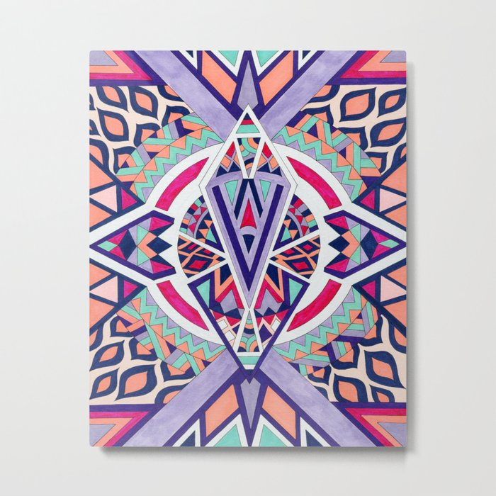 Abstract Journey II Metal Print