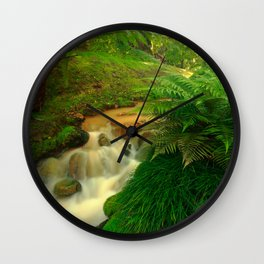 Stream in the forest Wall Clock