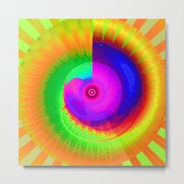 Rainbow Energy-Spiral No. 01 Metal Print