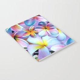 Rainbow Plumeria Notebook