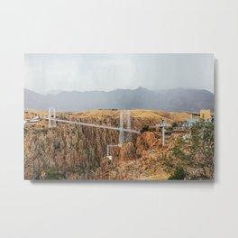 Rainy day at Royal Gorge Bridge Metal Print