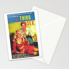 Lesbian Sex Exploitation Vintage Cover Stationery Cards