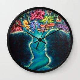Coral Tree Wall Clock