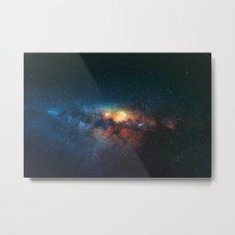 Beautiful Blue Galaxy Metal Print