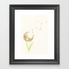 Dandelion Fluff Framed Art Print